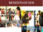benefits of gym