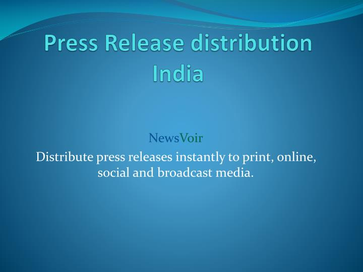press release distribution india n.