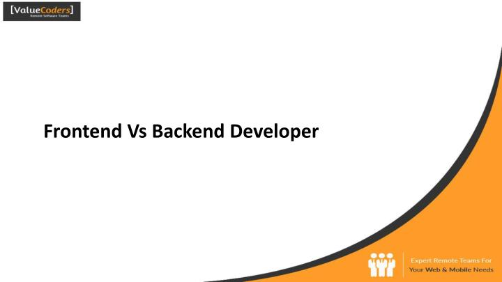frontend vs backend developer n.