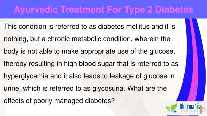 Ayurvedic Treatment For Type 2 Diabetes