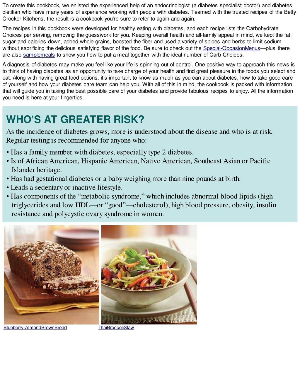 Ppt Diabetes Ebook Betty Crocker Diabetes Cookbook Great