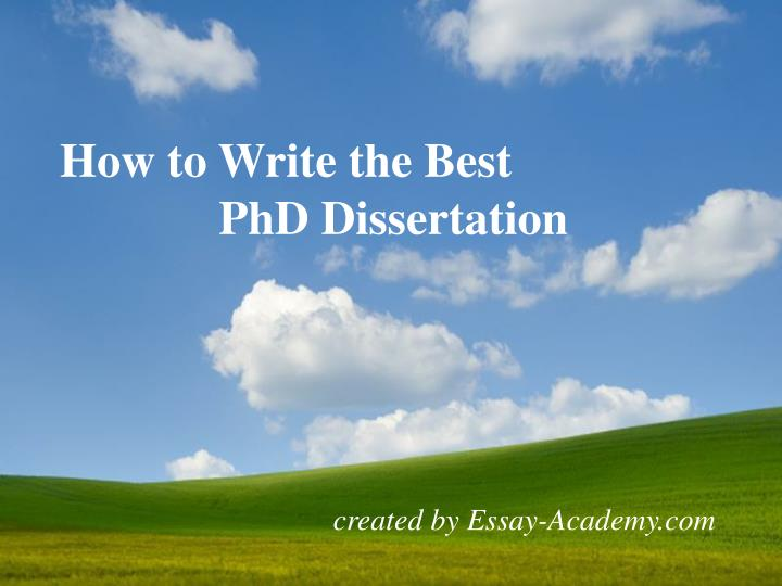how long does it take to write a phd dissertation