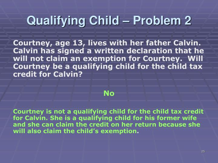 Qualifying Child – Problem 2