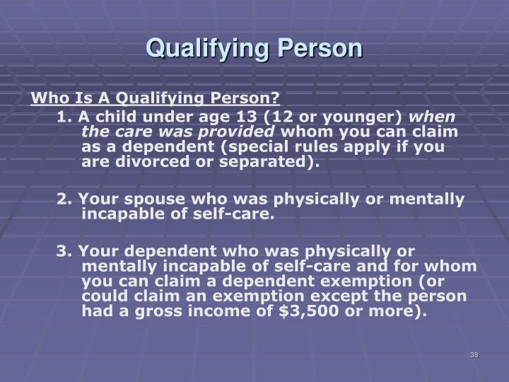 Qualifying Person
