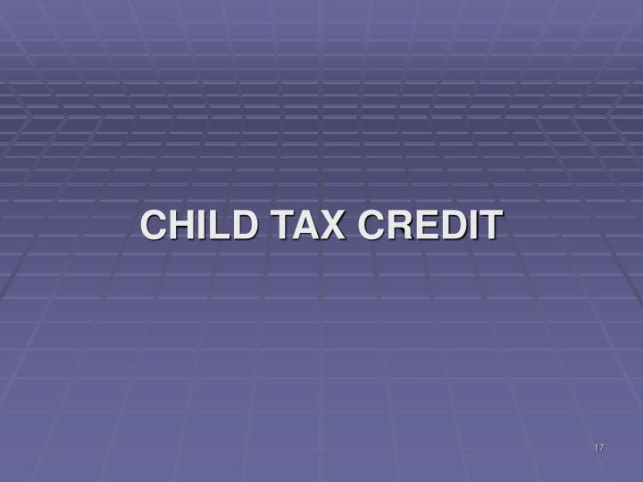 CHILD TAX CREDIT