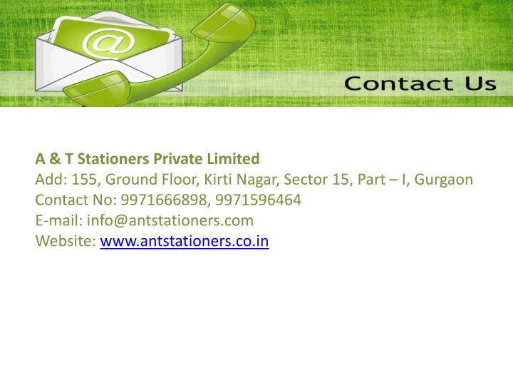 A & T Stationers Private Limited