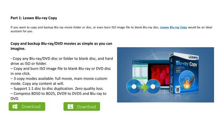 Part 1: Leawo Blu-ray Copy