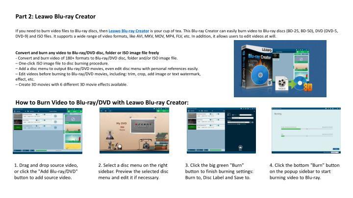 Part 2: Leawo Blu-ray Creator