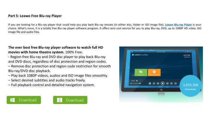 Part 5: Leawo Free Blu-ray Player