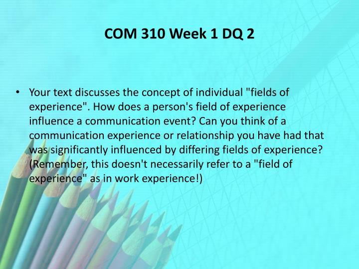 week 1 dq 2