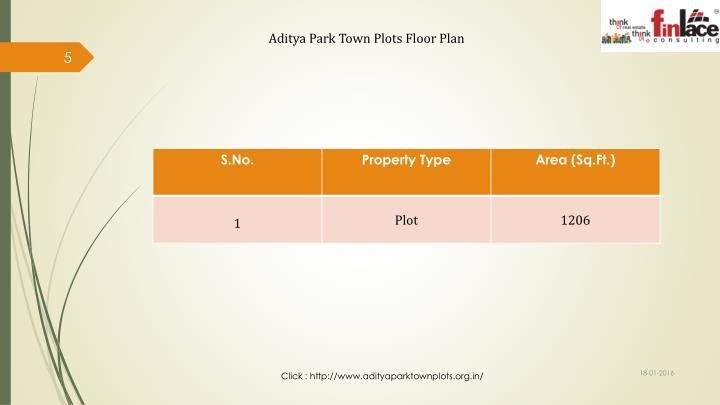Aditya Park Town Plots Floor Plan