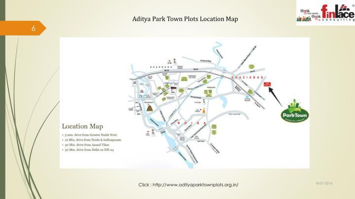 Aditya Park Town Plots Location Map
