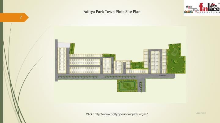 Aditya Park Town Plots Site Plan