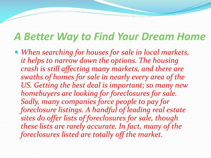 Ppt what is my home worth powerpoint presentation id for Dream home search