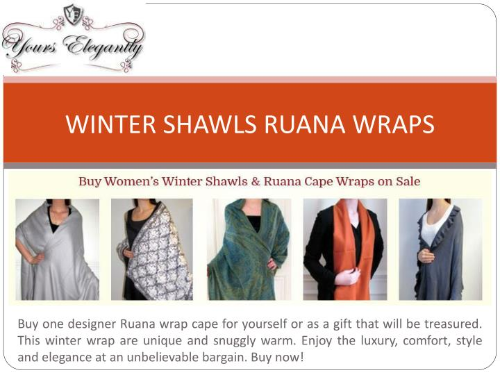 WINTER SHAWLS RUANA WRAPS