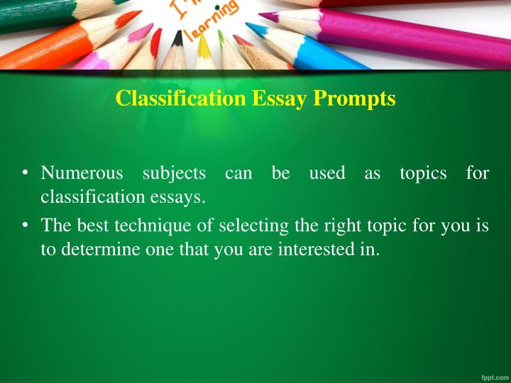 classification essay on students