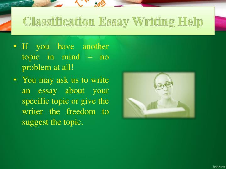 powerpoint on classification essays