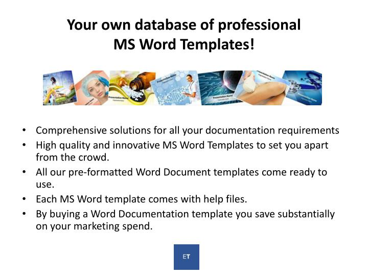 Your own database of professional