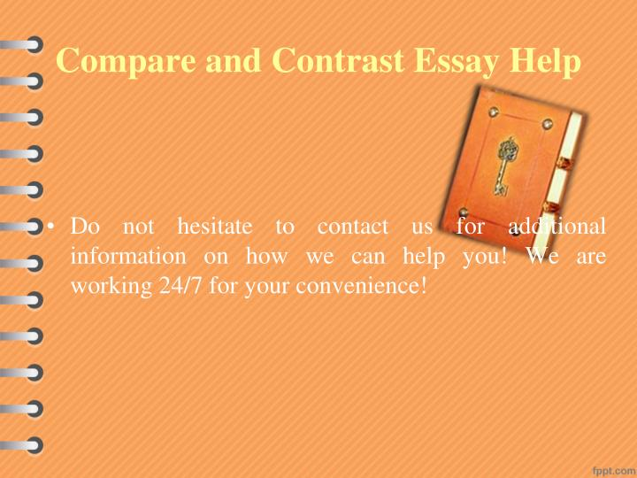 Help writing a compare and contrast essay