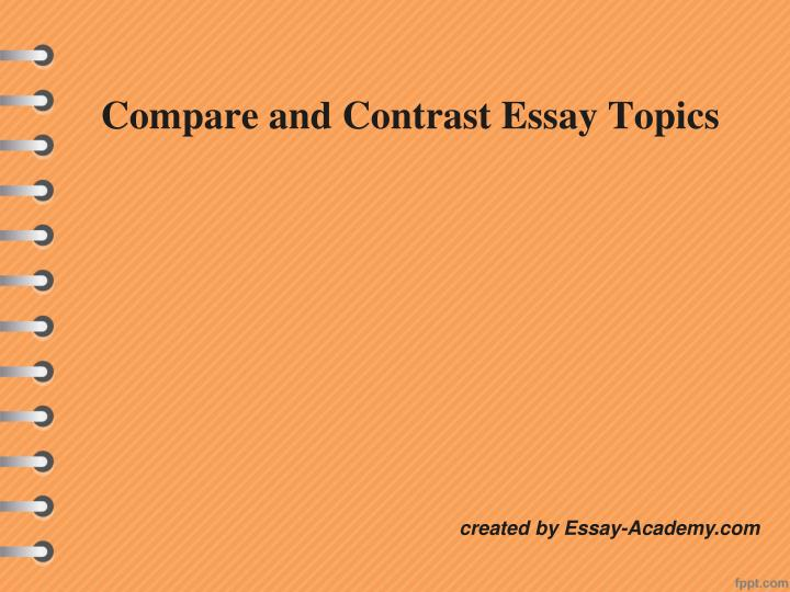 Essay Guidelines