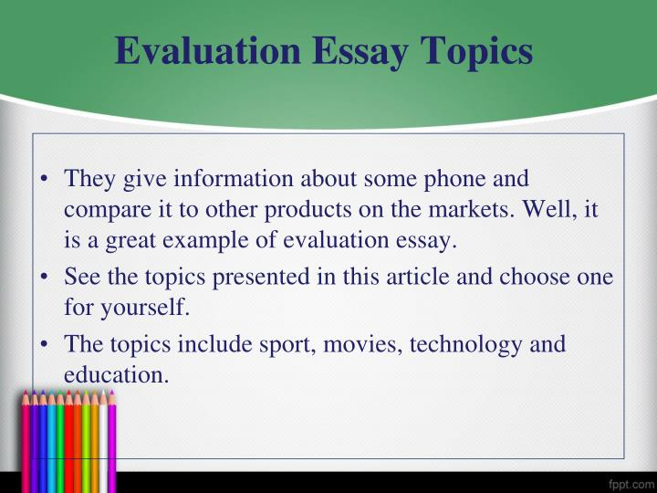 how to write an essay evaluating an article Writing essays - is not only an integral part of the learning process of pupils and students, but also a common type of research work the main purpose of the abstract - a summary of theoretical material within a particular theme essays can be written as on a range of sources, and in individual.