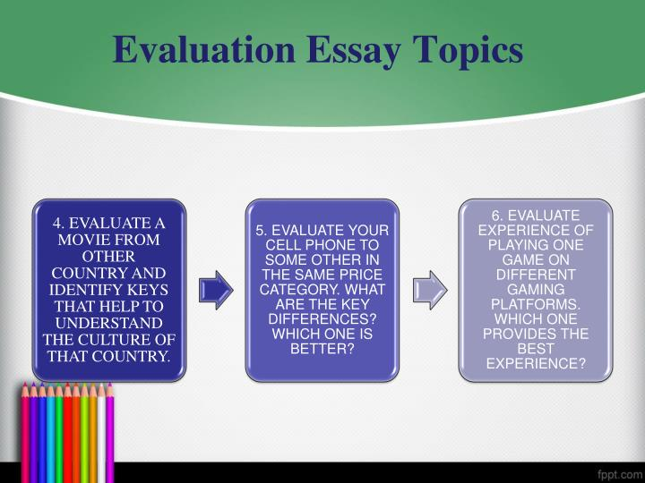 good thesis for evaluation essay Essaystudioorg is ready to leave the default choice essay and specify what you need in the but you wrote the article in time and i got a good grade for.