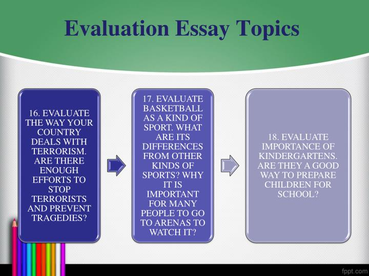 evaluating evaluation essay Performance evaluations home page free essays performance evaluation essay performance evaluation essay 1828 words 8 pages there is a purpose in doing.