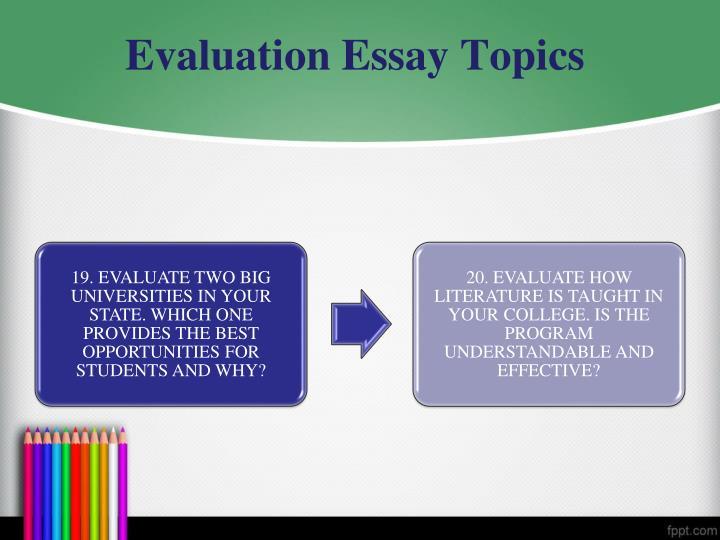 writing an evaluative essay