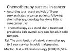 chemotherapy success in cancer