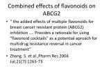 combined effects of flavonoids on abcg2