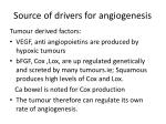 source of drivers for angiogenesis