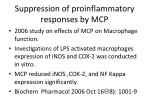 suppression of proinflammatory responses by mcp