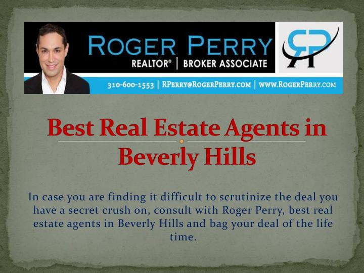 best real estate agents in beverly hills n.