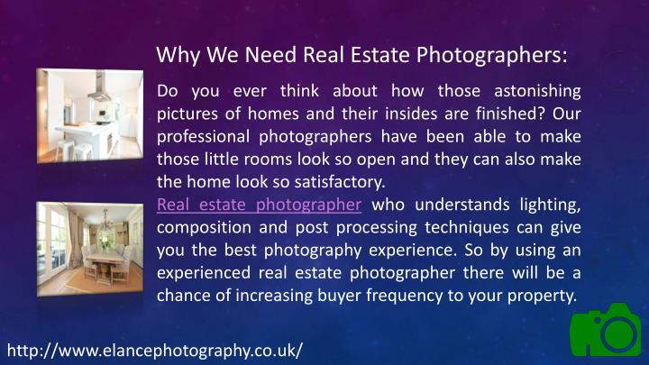 Why We Need Real Estate Photographers: