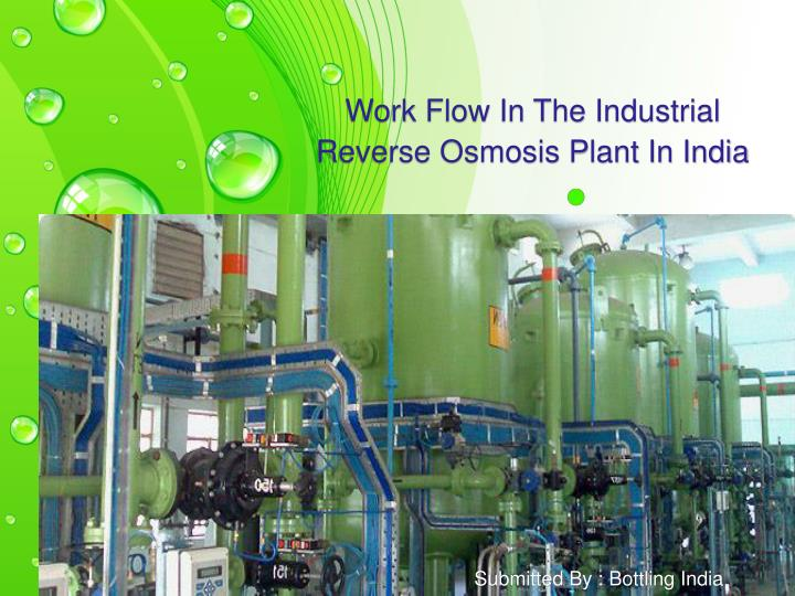 work flow in the industrial reverse osmosis plant in india n.