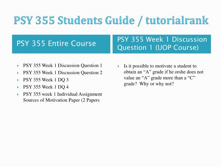 Psy 355 students guide tutorialrank1
