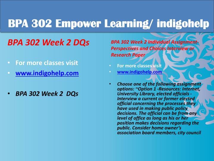 Bpa 302 educational tutor indigohelp1