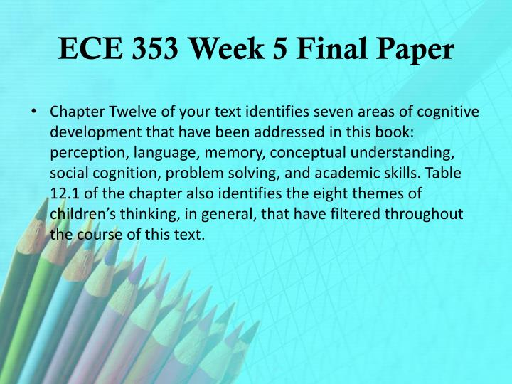 hcs412 week five final paper Gro 410 week 5 final paper final paper due by day 7 scaffold your paper around the following outline: title page introduction (half page) describe the paper.