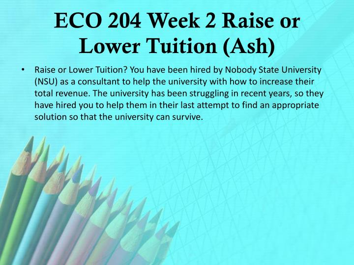 raise or lower tuition