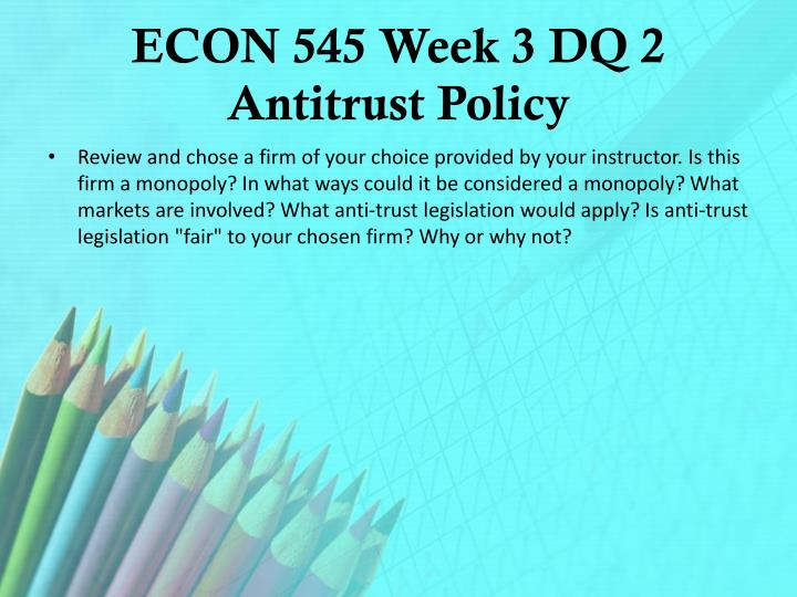 eco 561 week 4 dq 4 Cost is a big issue with every company, and changing the technology is the biggest cost for most companies, how your company was able to cope with this problem and maintain the level of profit in a very competitive market.