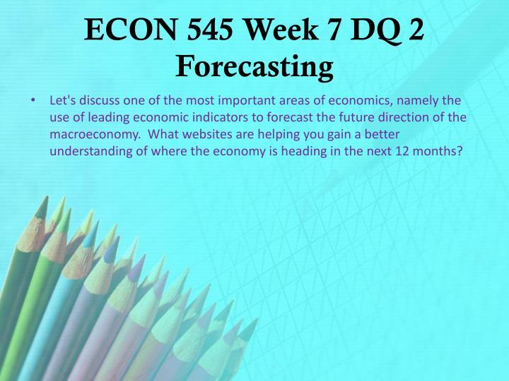 use of leading economic indicators to forecast the future direction of the macroeconomy