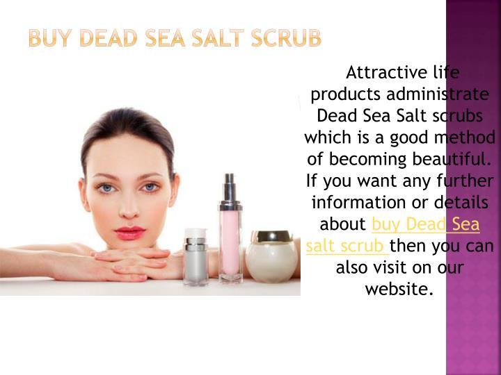 Buy dead sea salt scrub