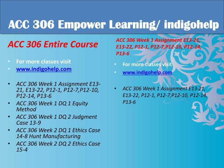 Acc 306 educational tutor indigohelp