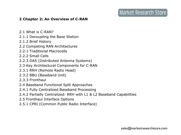 2 Chapter 2: An Overview of C-RAN