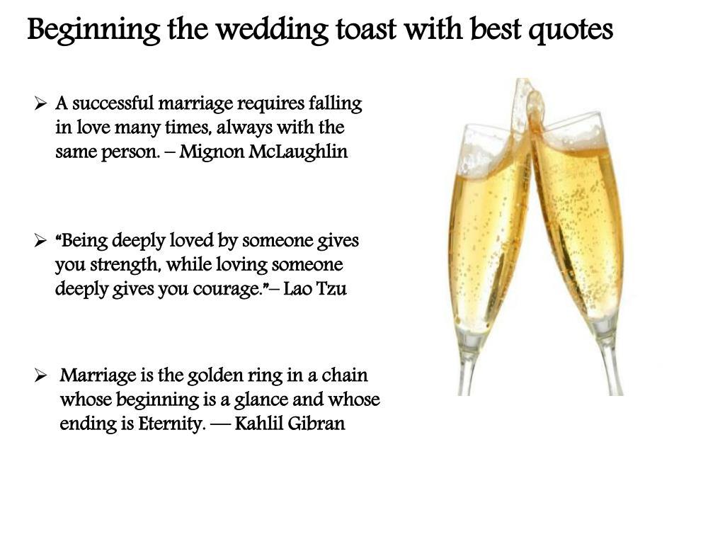 Best Wedding Toasts.Ppt Best Wedding Toast Quotes Powerpoint Presentation Id 7285924