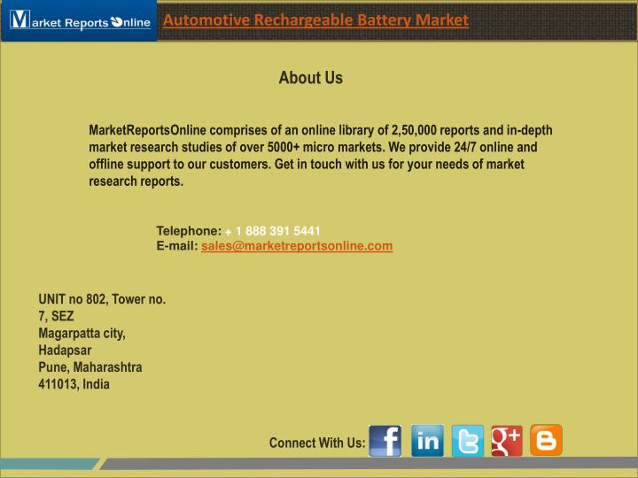 Automotive Rechargeable Battery Market
