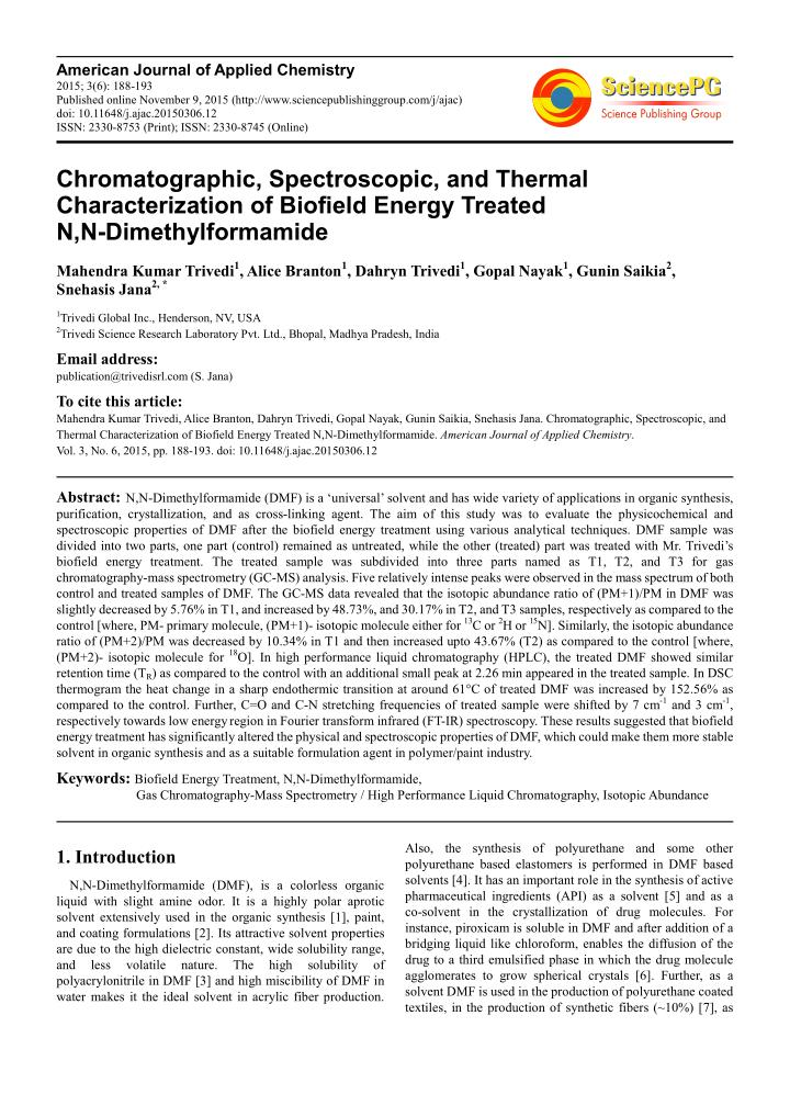 American Journal of Applied Chemistry