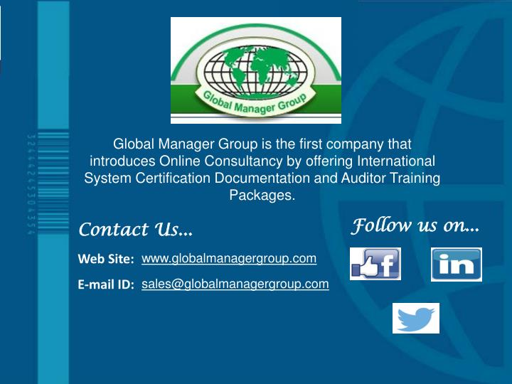 Global Manager Group is the first company that introduces