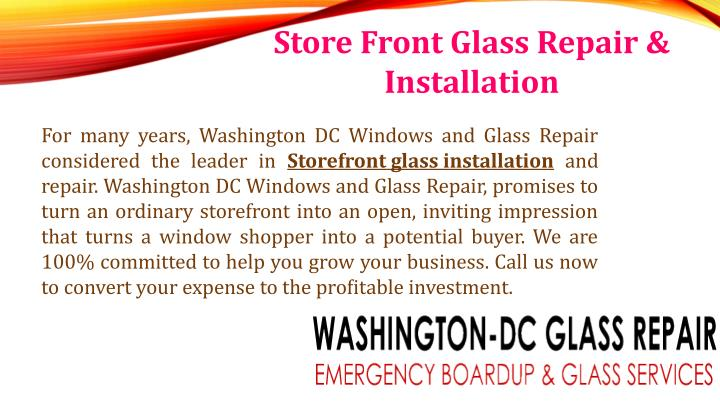 Store Front Glass Repair &