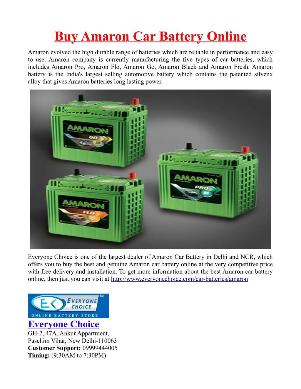 Ppt Buy Amaron Car Battery Online Powerpoint Presentation Id 7286914